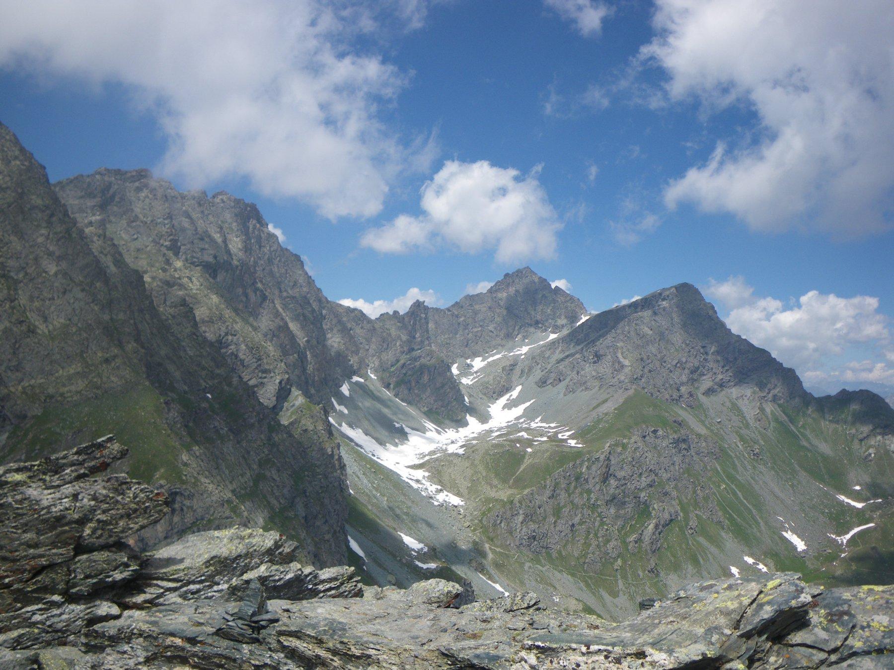 dalla cima verso Pian Mait e Granero