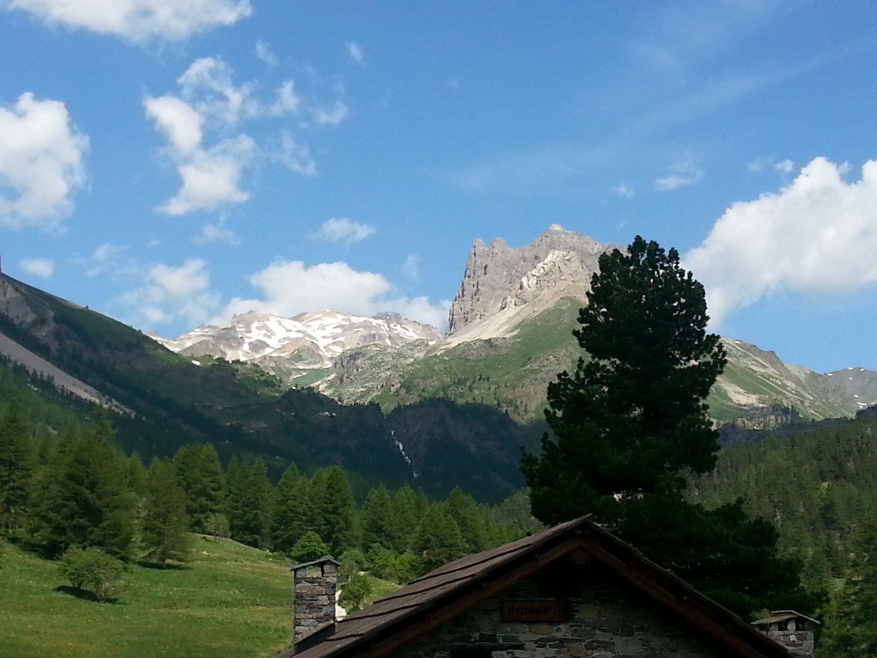 Il Thabor visto dalle Grange Valle Stretta