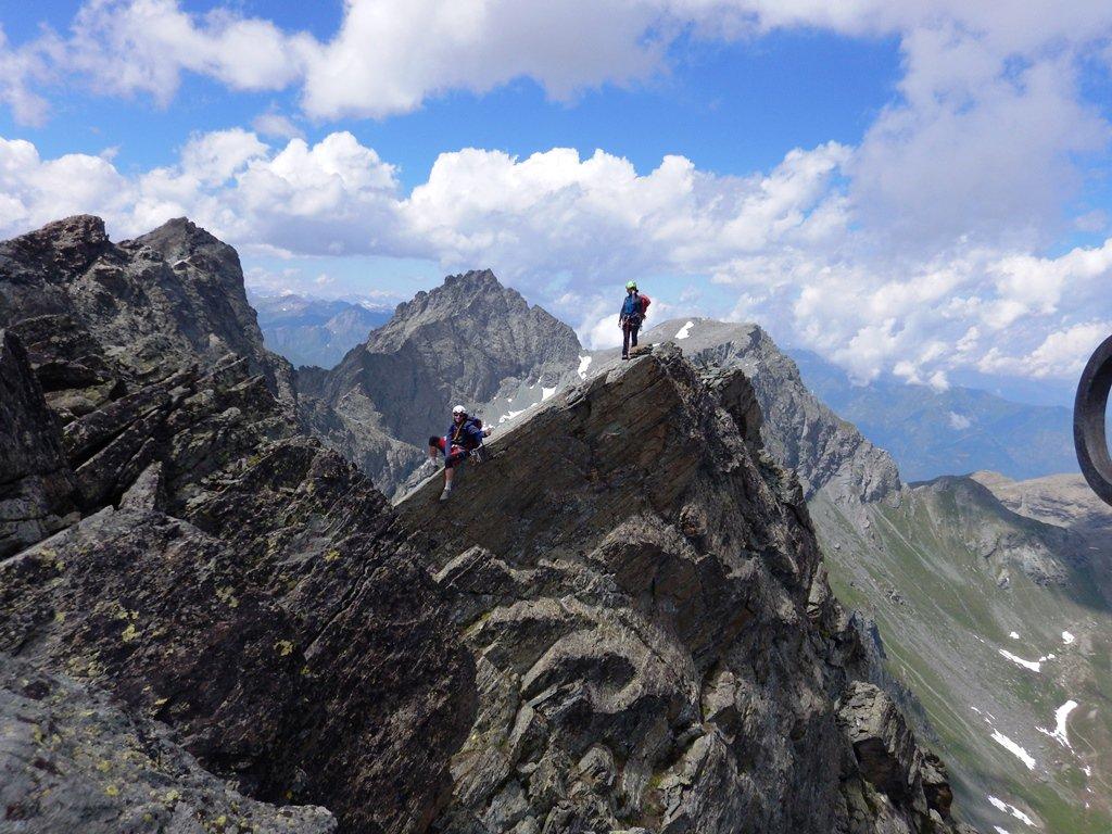 Giorgio e Fabri in uscita dalla cresta