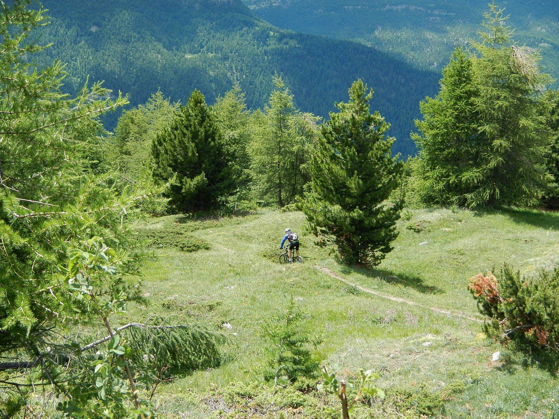 discesa sul versante della Valle del Thures