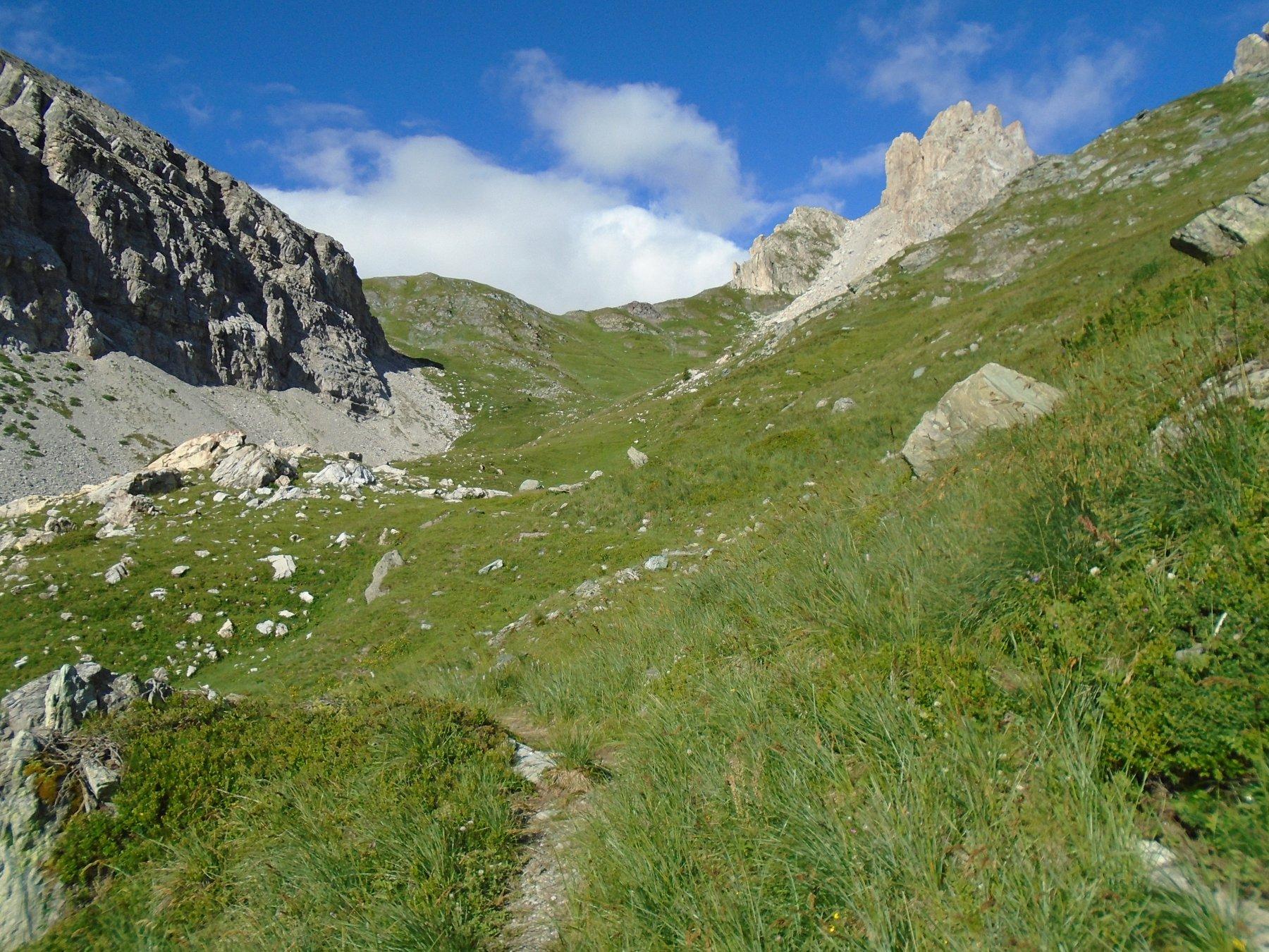 Verso Colle del Mulo (nube bianca)