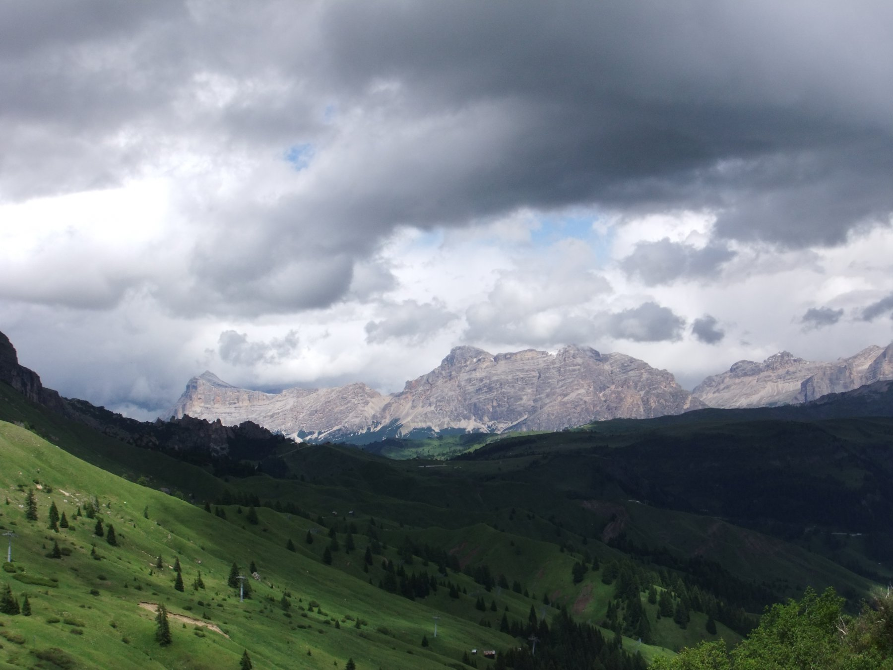 Panorama verso le Tofane