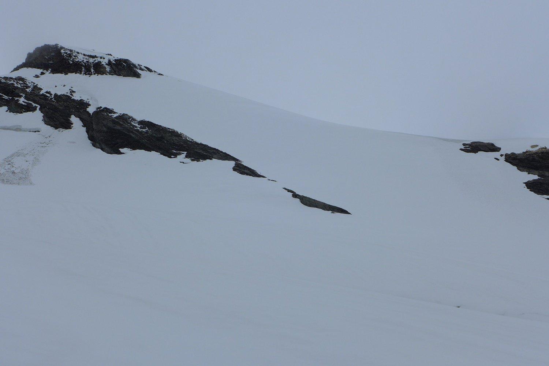 la spalla sul ghiacciaio di Lavassey