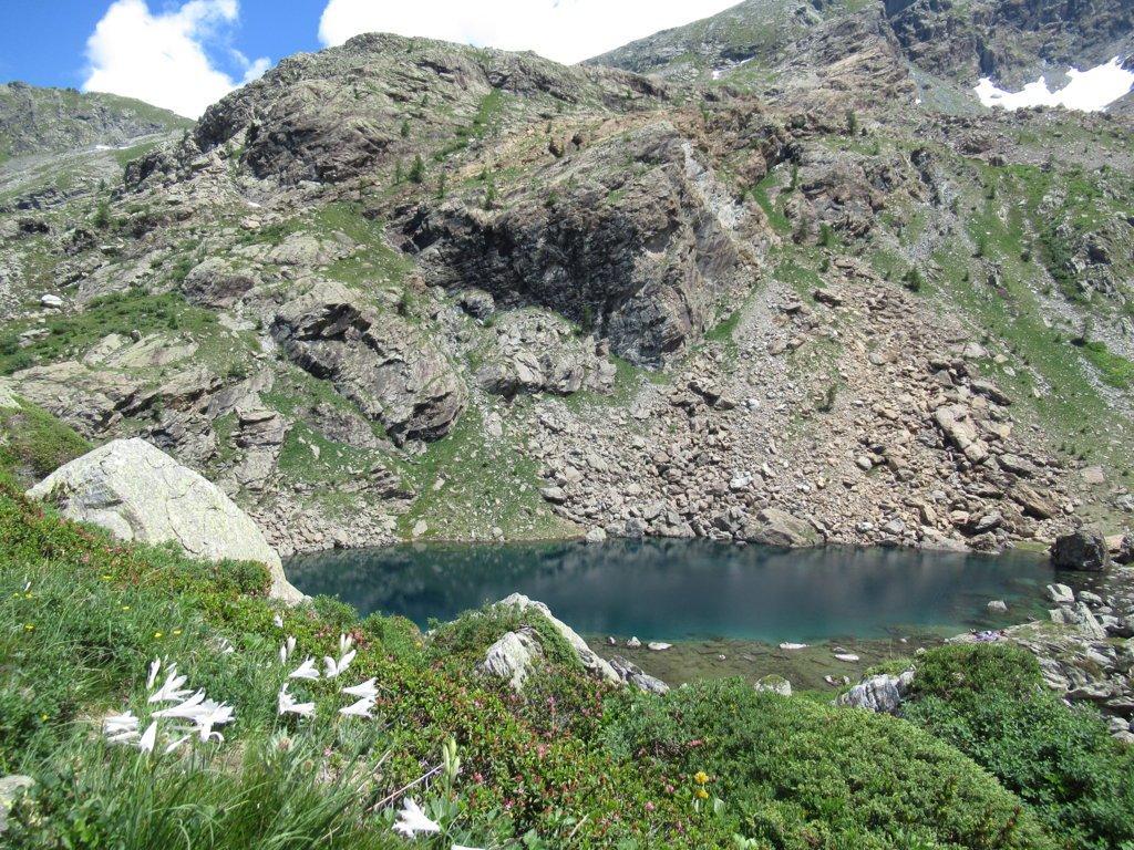 lago verde inferiore salendo verso il lago Paschiet
