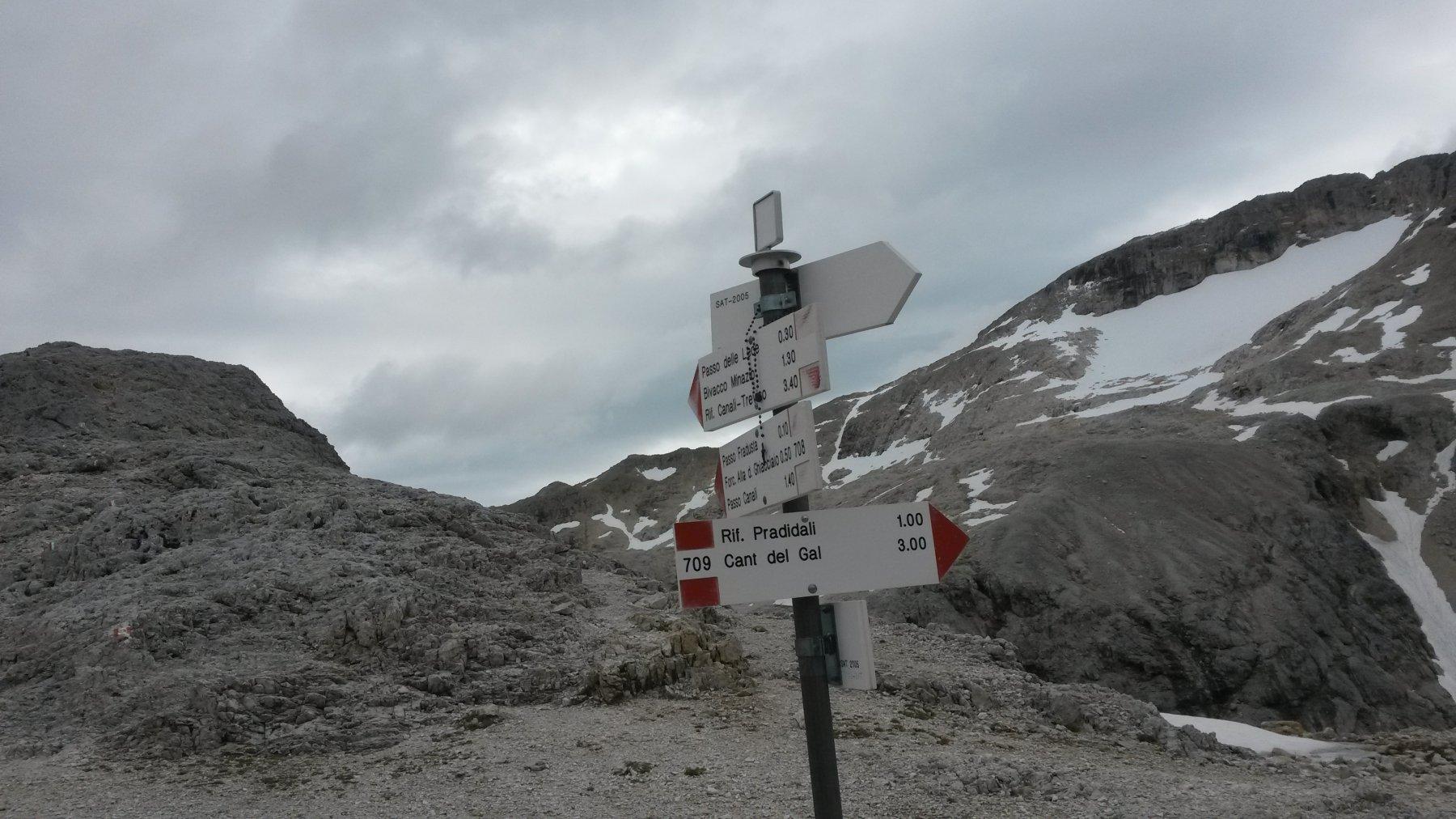 Il ghiacciaio della Fradusta dal Passo Pradidali Basso