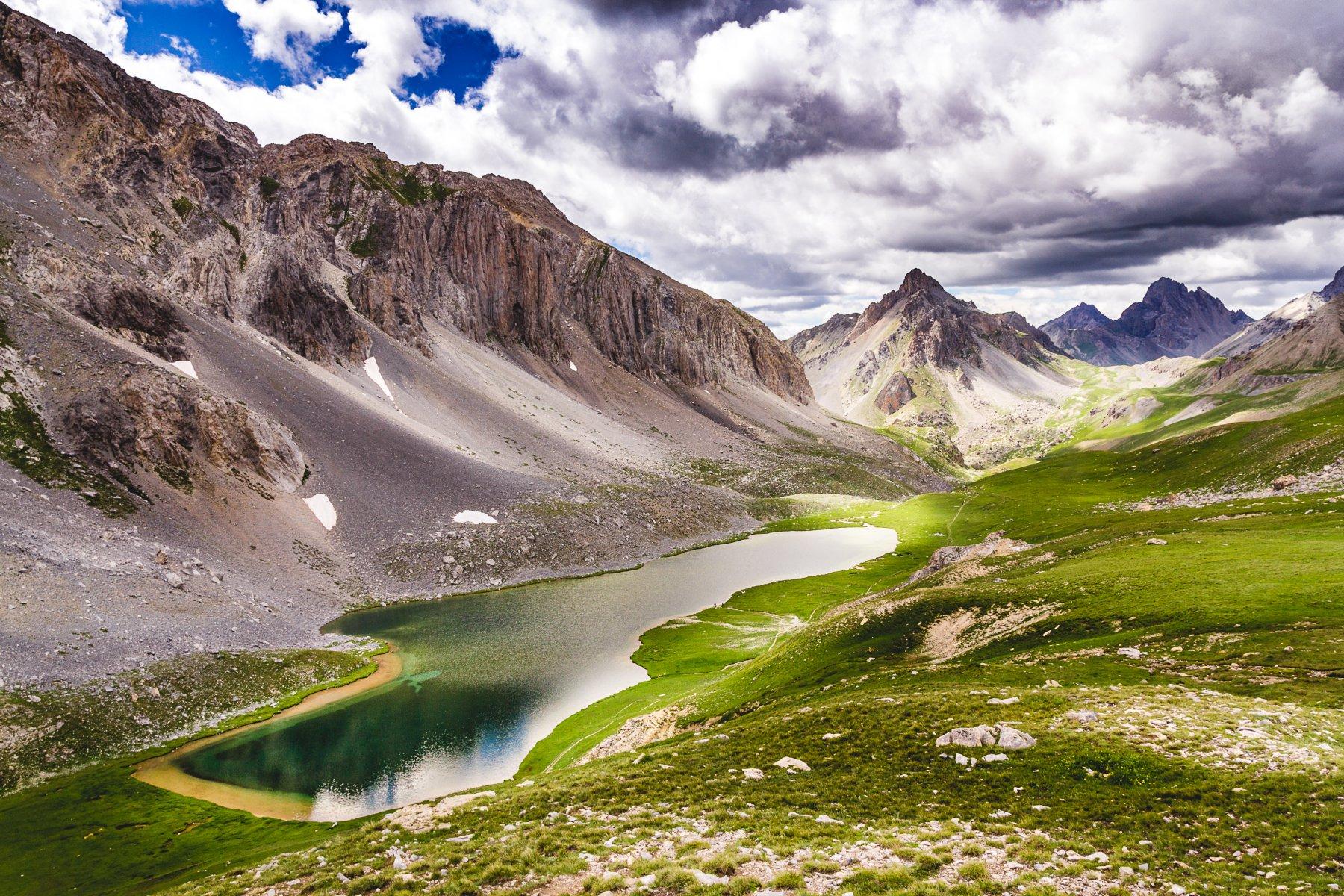 Il lago dell'Oronaye al ritorno