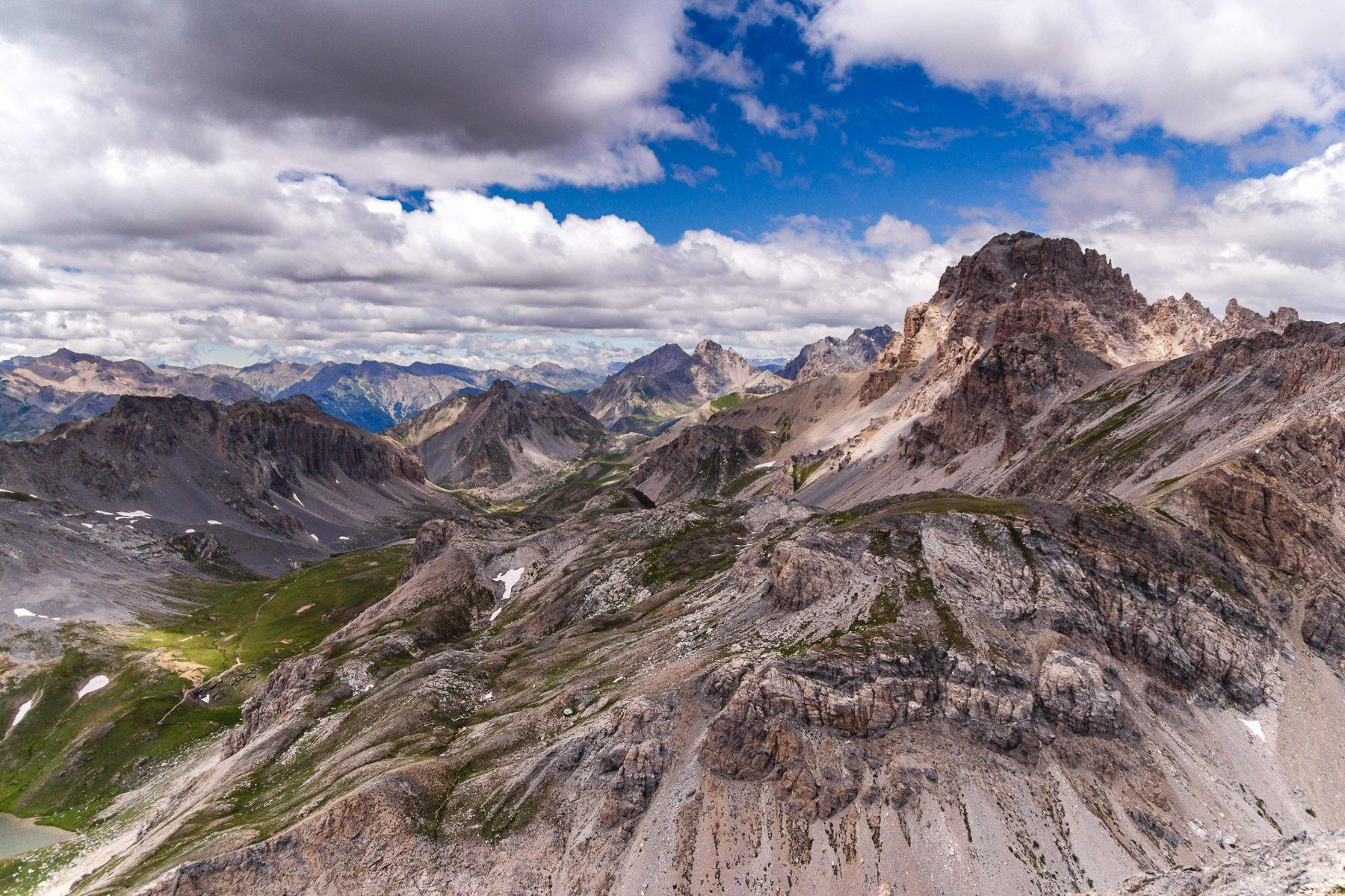 L'Oronaye dalla cima
