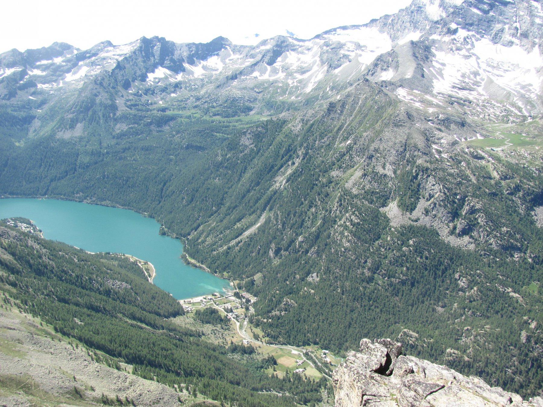 Il lago di Ceresole visto dalla punta Rocchetta