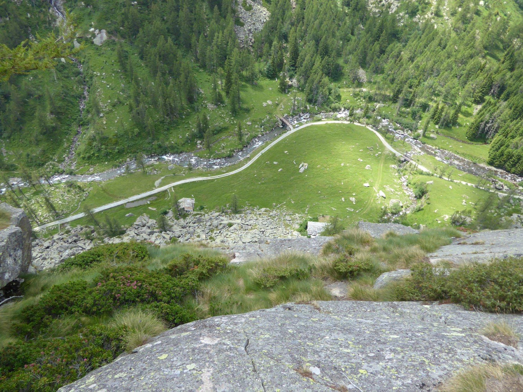 Veduta aerea dell'Alpe Randonero, dal Munt ad Runduner