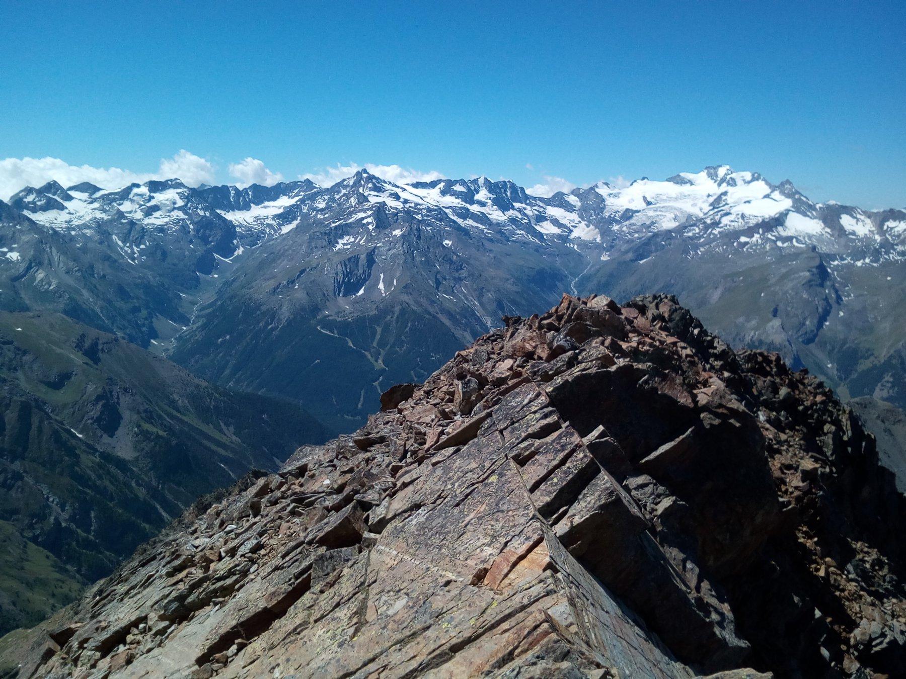 Panorama verso il Granparadiso