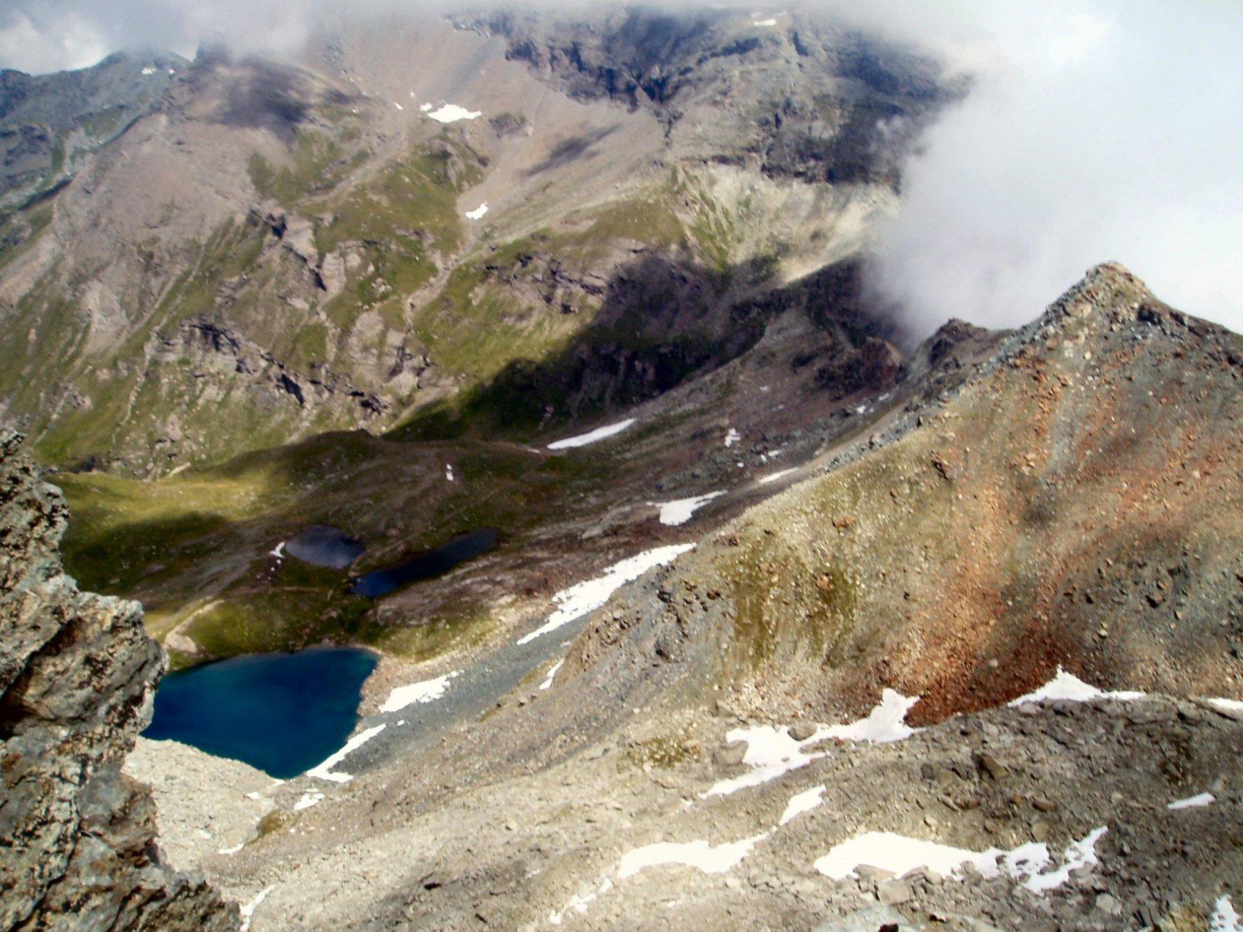 Lago e Colle Pinter dal colletto.