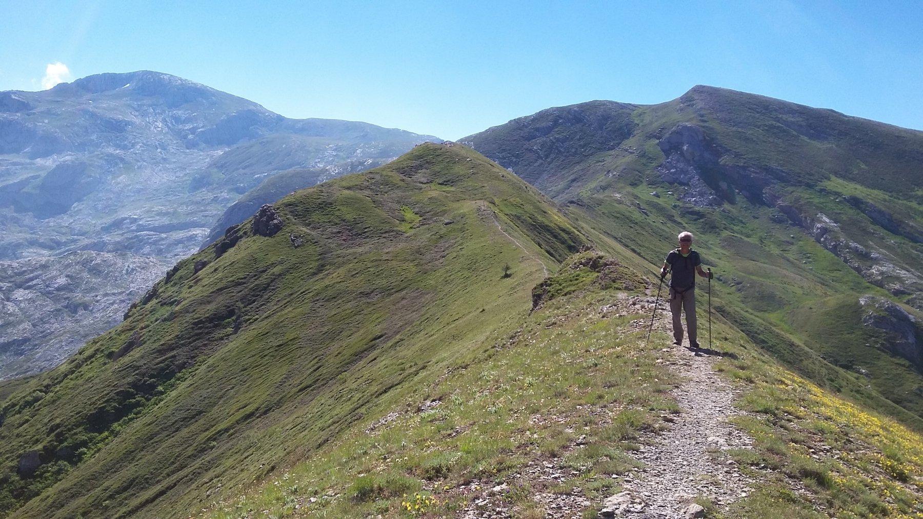 dal Passo delle Saline si indovina il lungo percorso fino al Mongioie