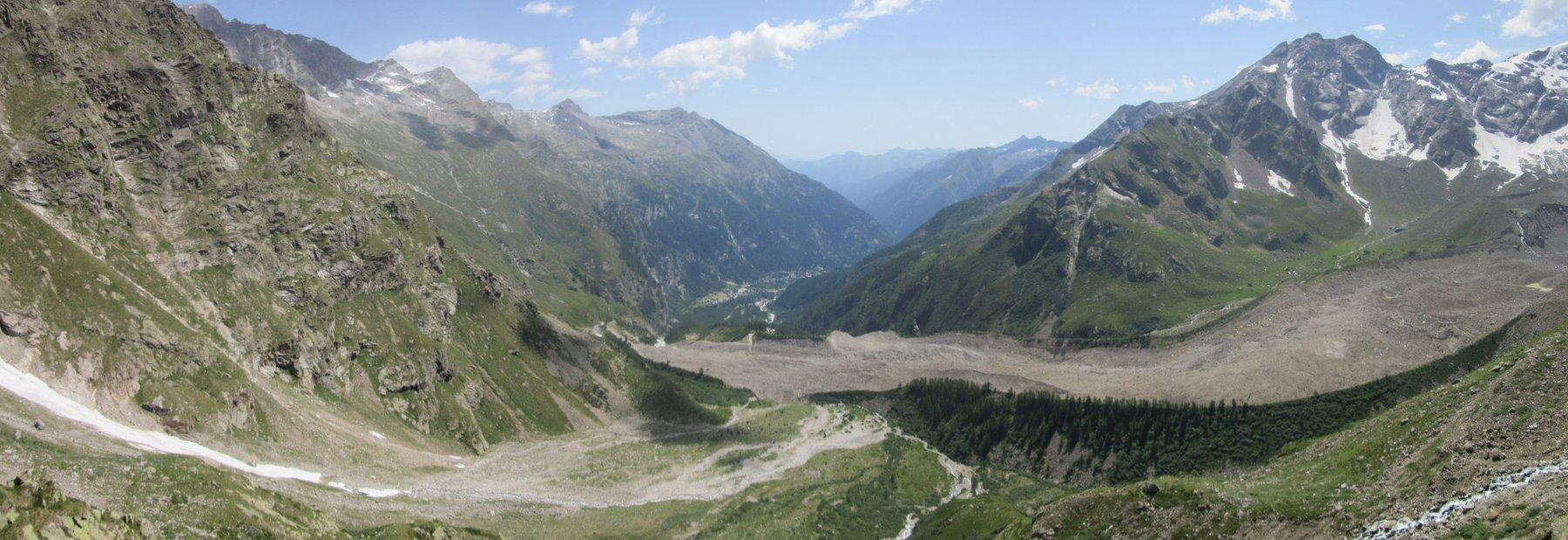 La lingua del ghiacciaio del Belvedere