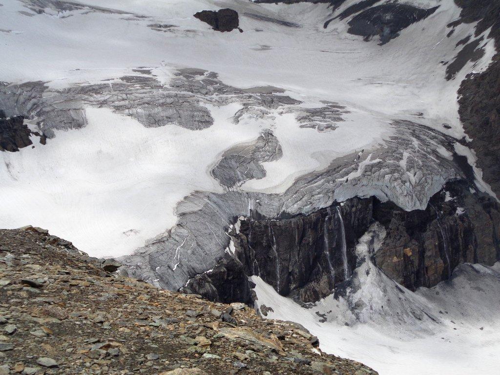 zoom sul ghiacciaio della Tete de By