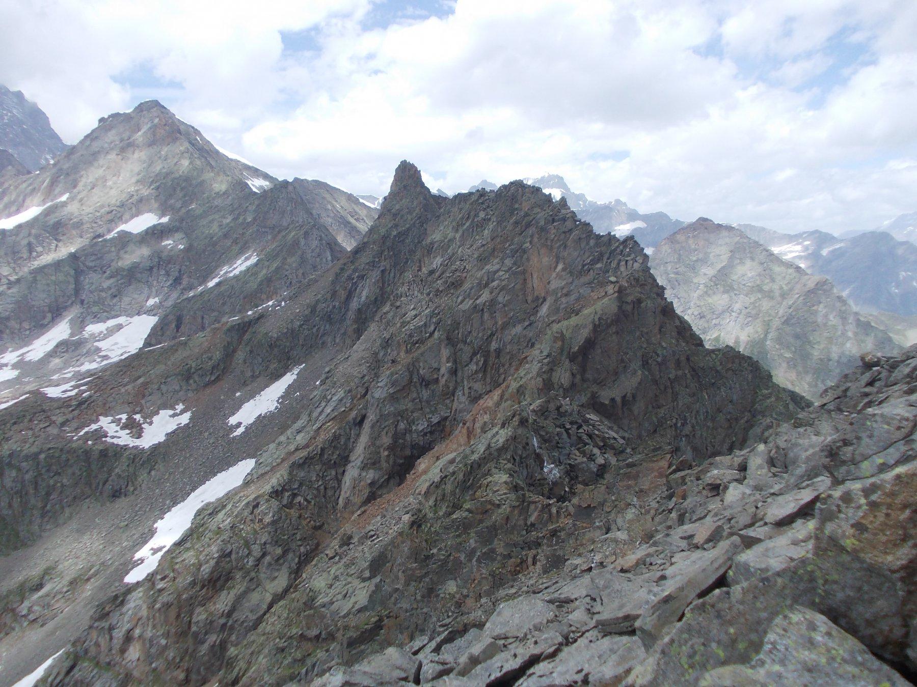 Dal Corno di Faller la Punta Rizzetti (al centro della foto) e tutta la cresta