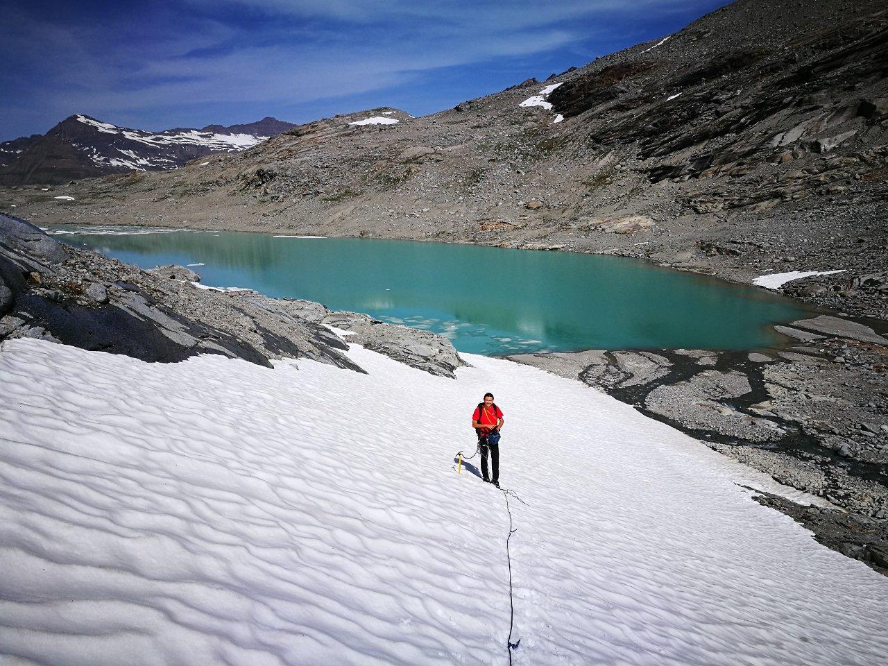 04 - attacco ghiacciaio dal fondo del lago