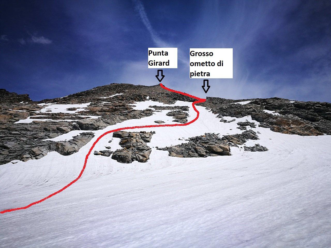 01 - pendio finale, percorso su neve