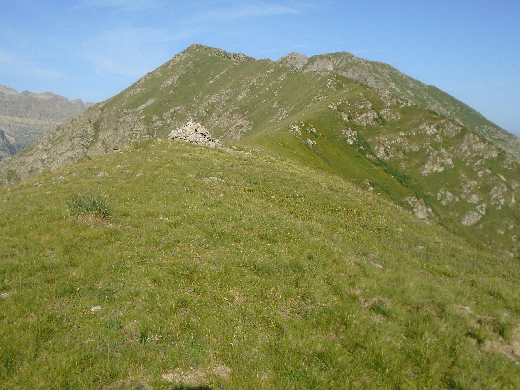 Merqua e resto della cresta verso il Bourel