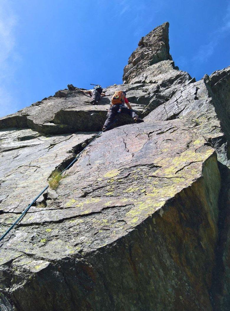 placca di 3° sul secondo salto