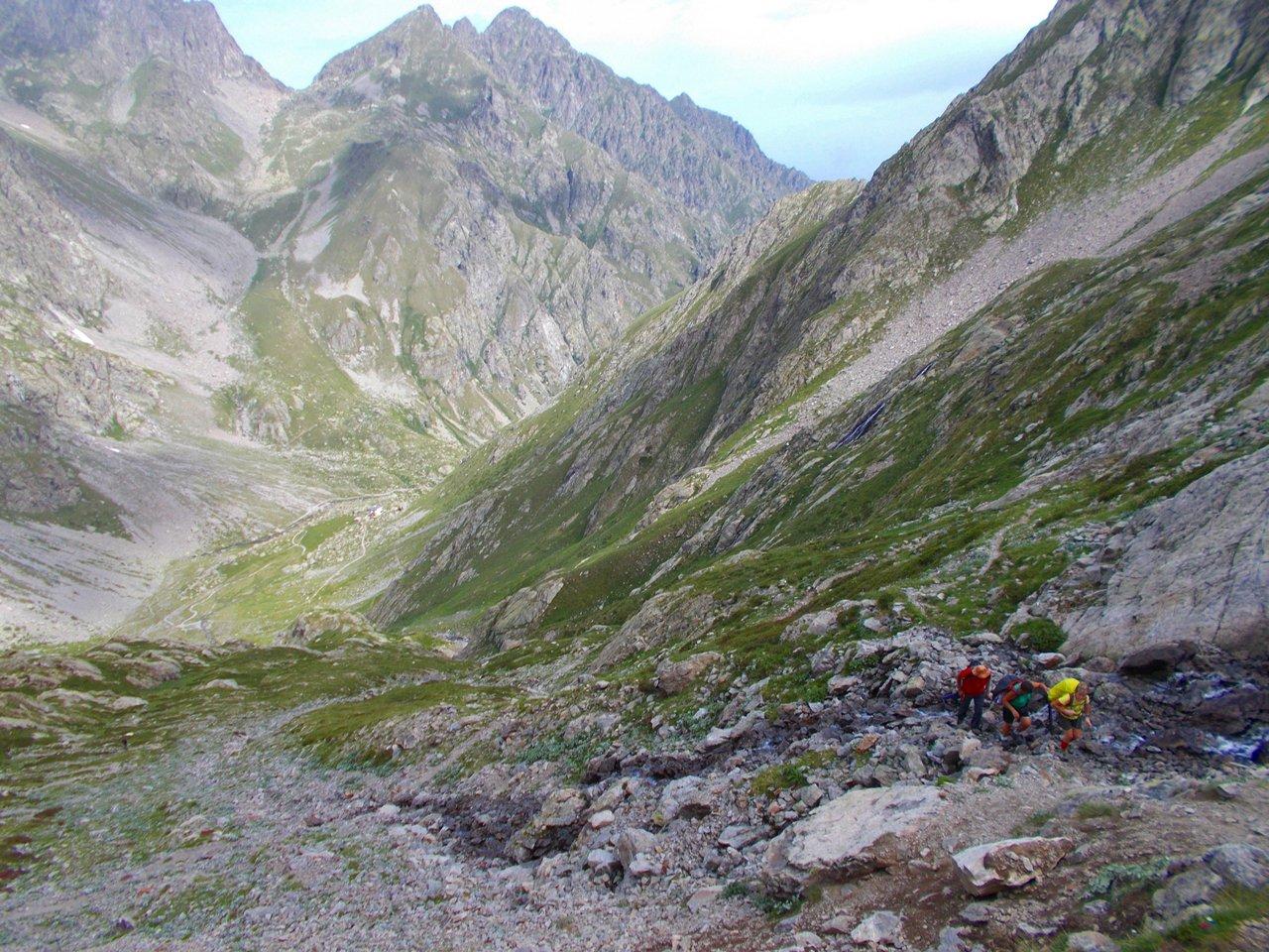 Sul sentiero che sale dal Paiet al Lago della Muara