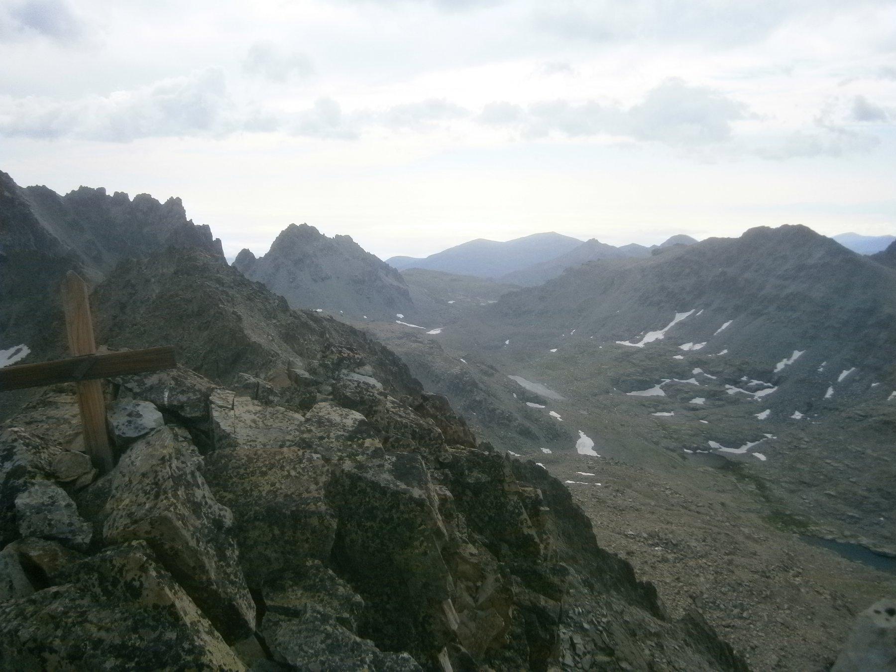 Passo san Chiaffredo dalla cima