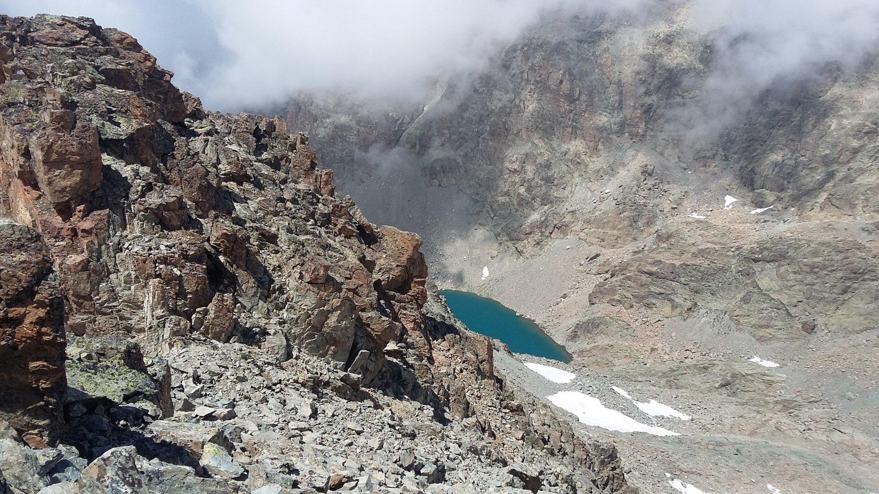 lago delle forciolline dalla cima