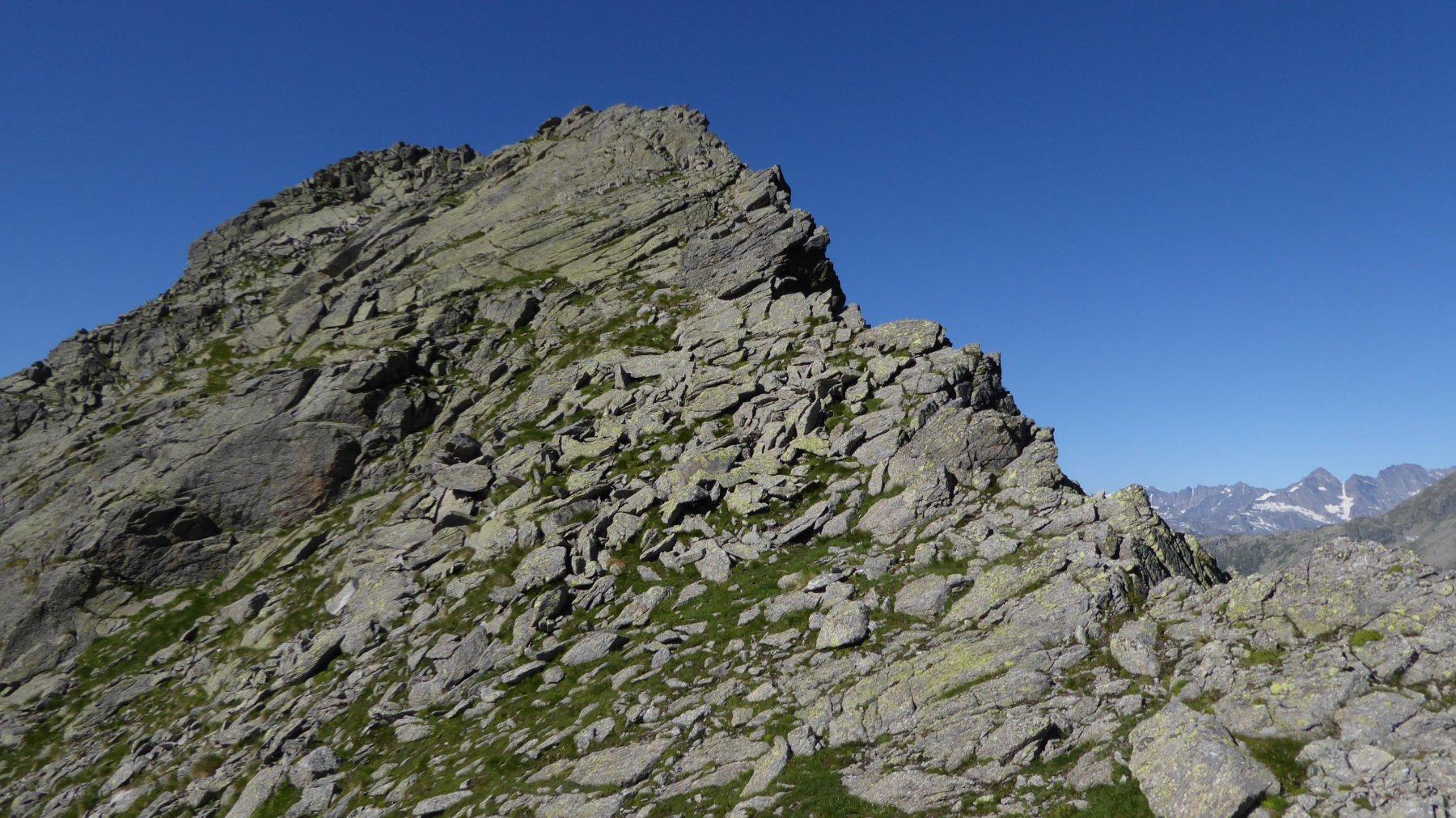 Il breve versante di salita al Monte Destrera