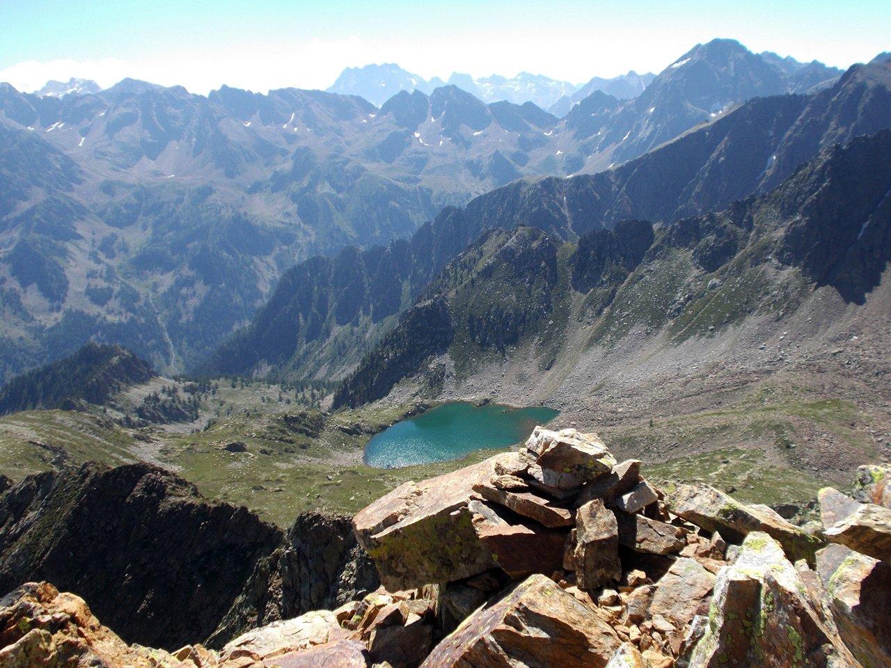 il lago d'Aver soprano dalla cima