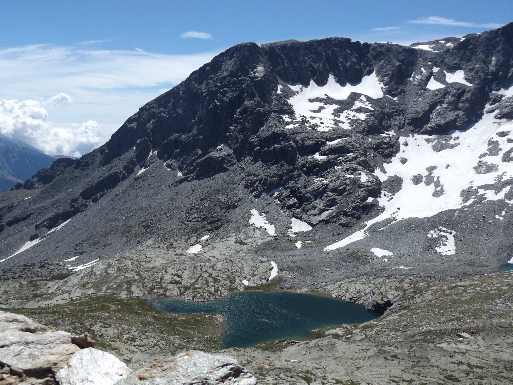 Lago Bianco e monte Giusalet dalla cima