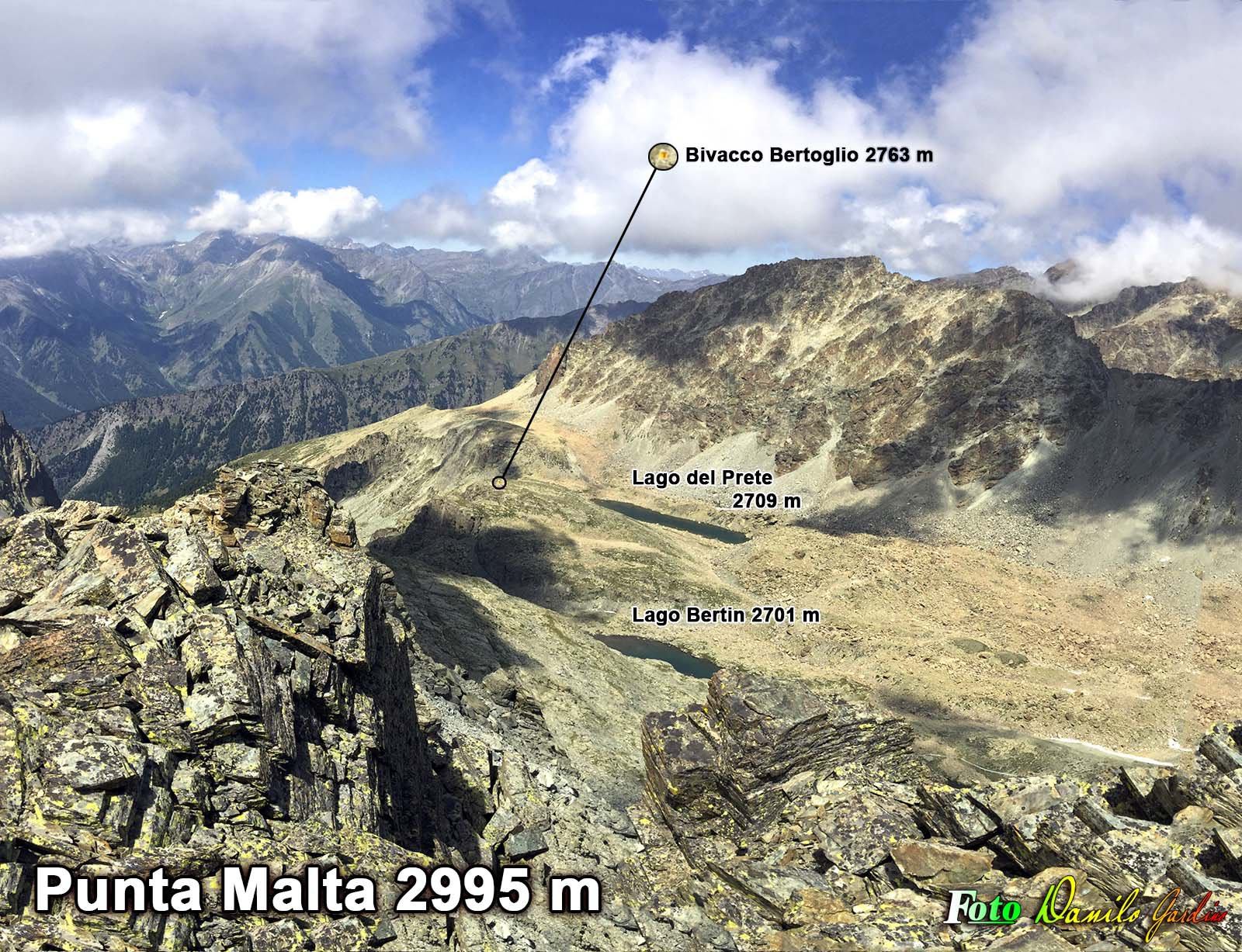 Panorama dalla Punta Malta (2995 m)