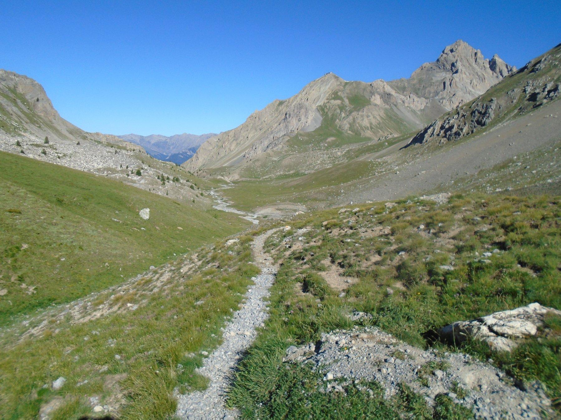 L' altipiano percorso e vista su Batterie de Viraysse e Meyna