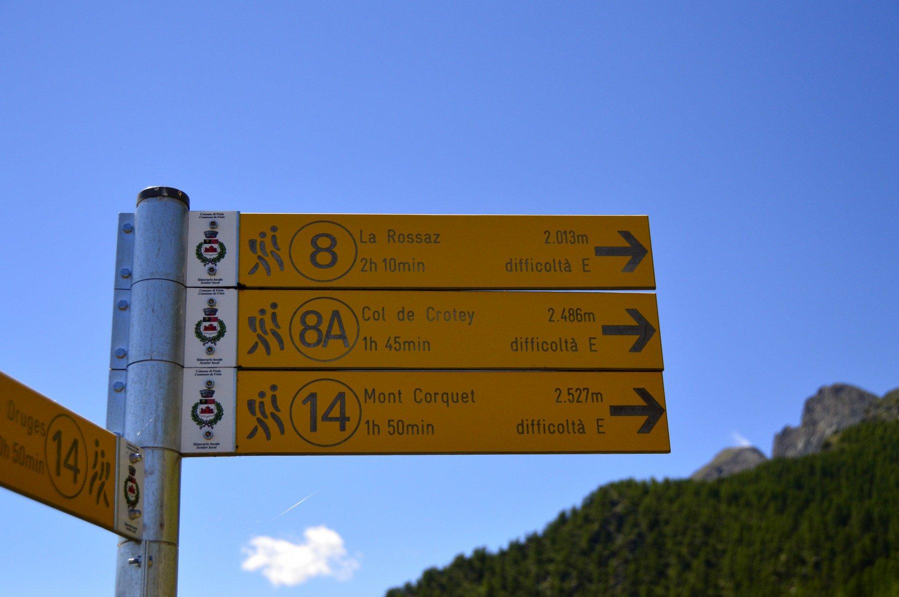 Seguire il 14 per il percorso più diretto (siamo all'alpe Prapremier)