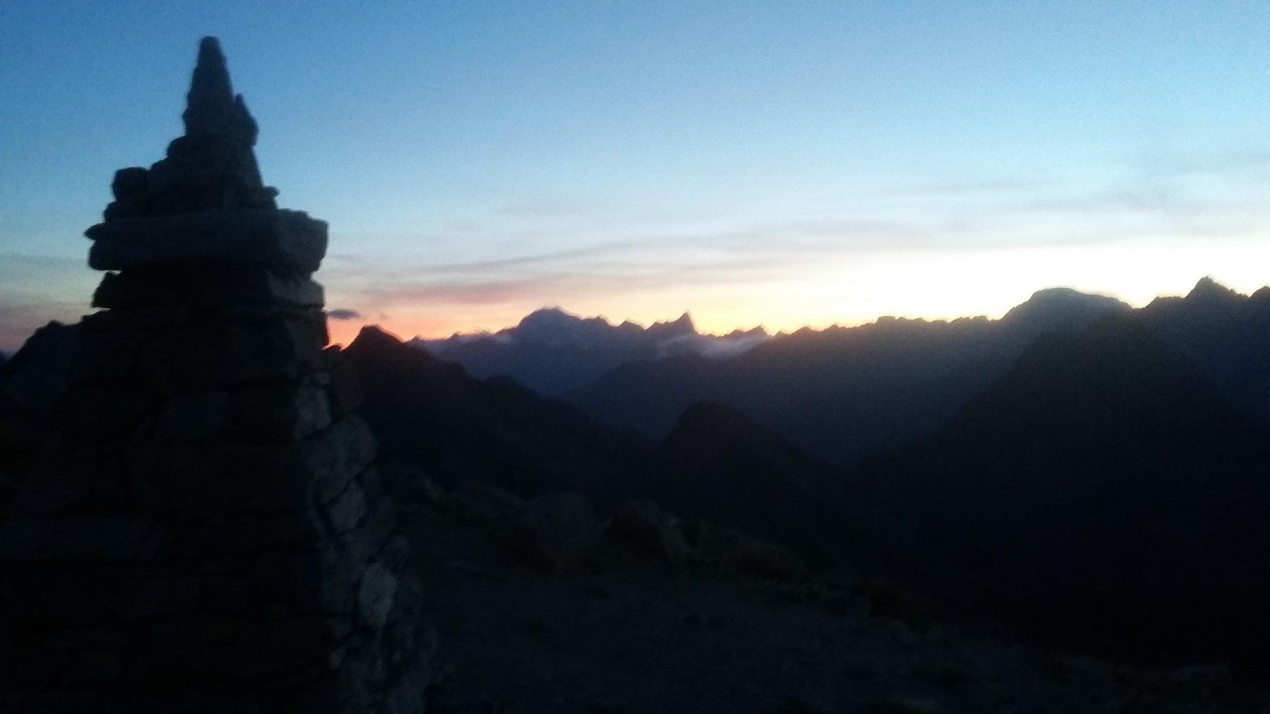 Tramonto a Col Vessonaz