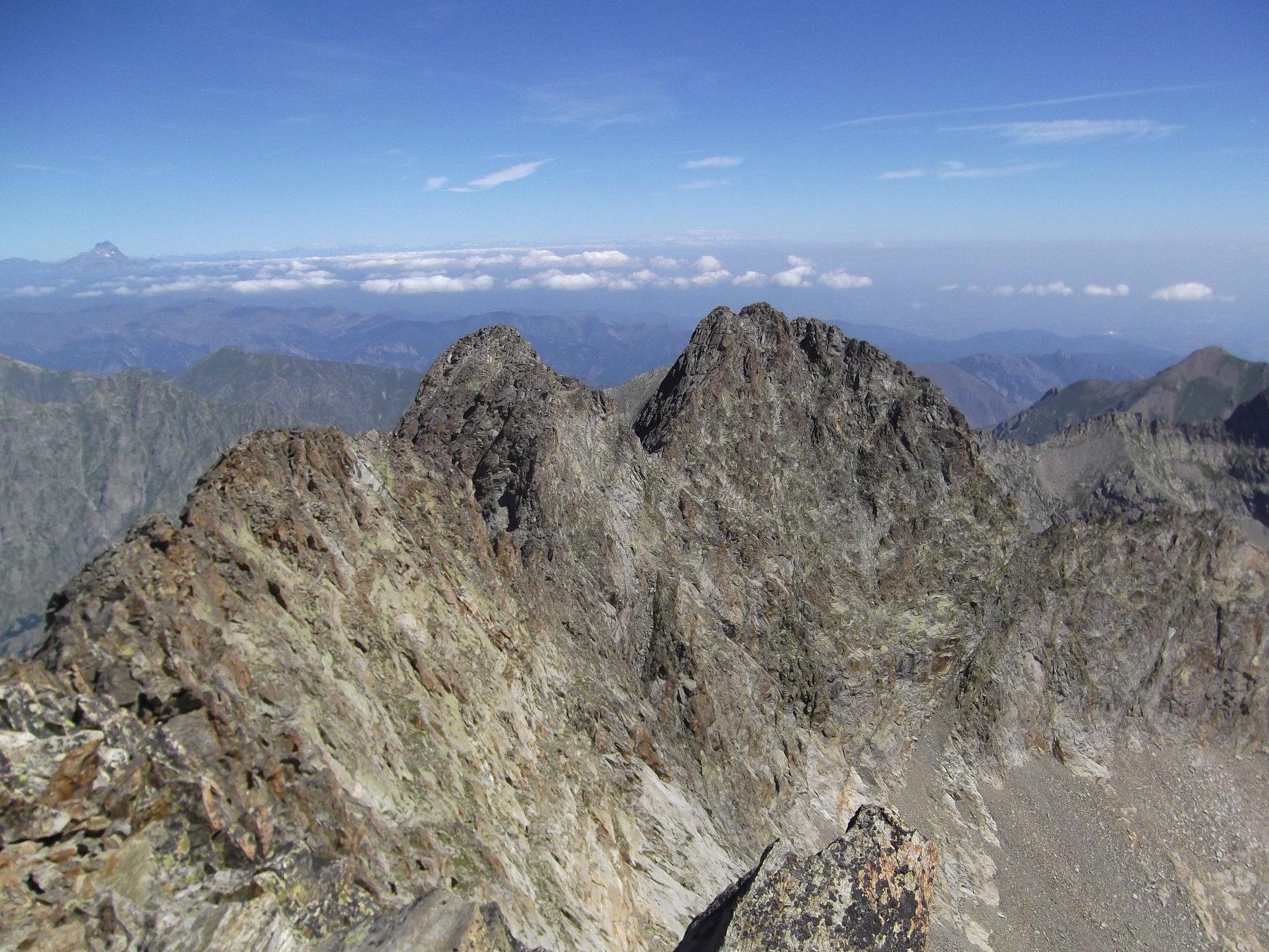 Monti Gelas di Lourousa e Stella visti dalla Nord.