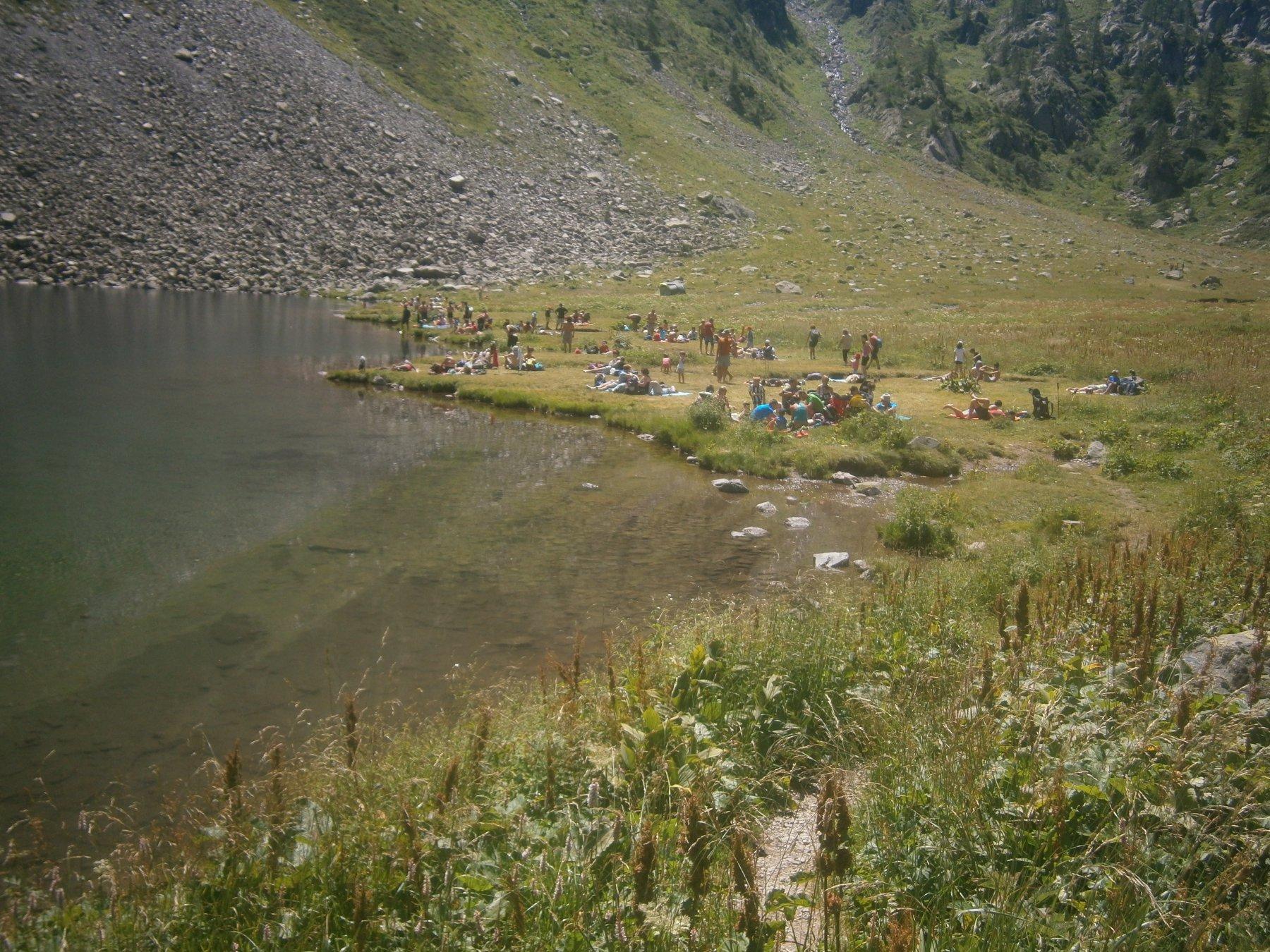 Lago Laus, come in riviera