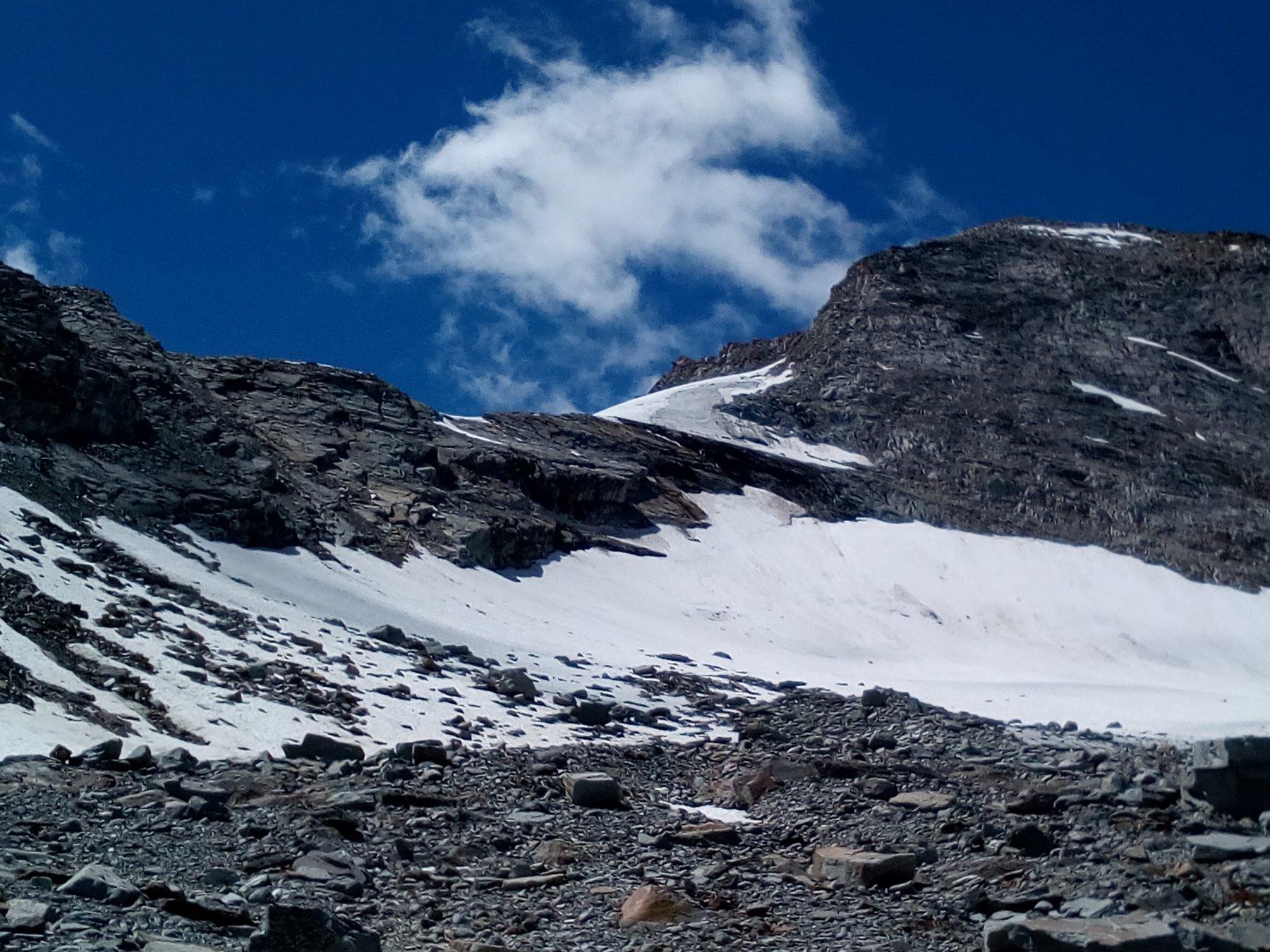 Quello che resta del ghiacciaio del Lauson