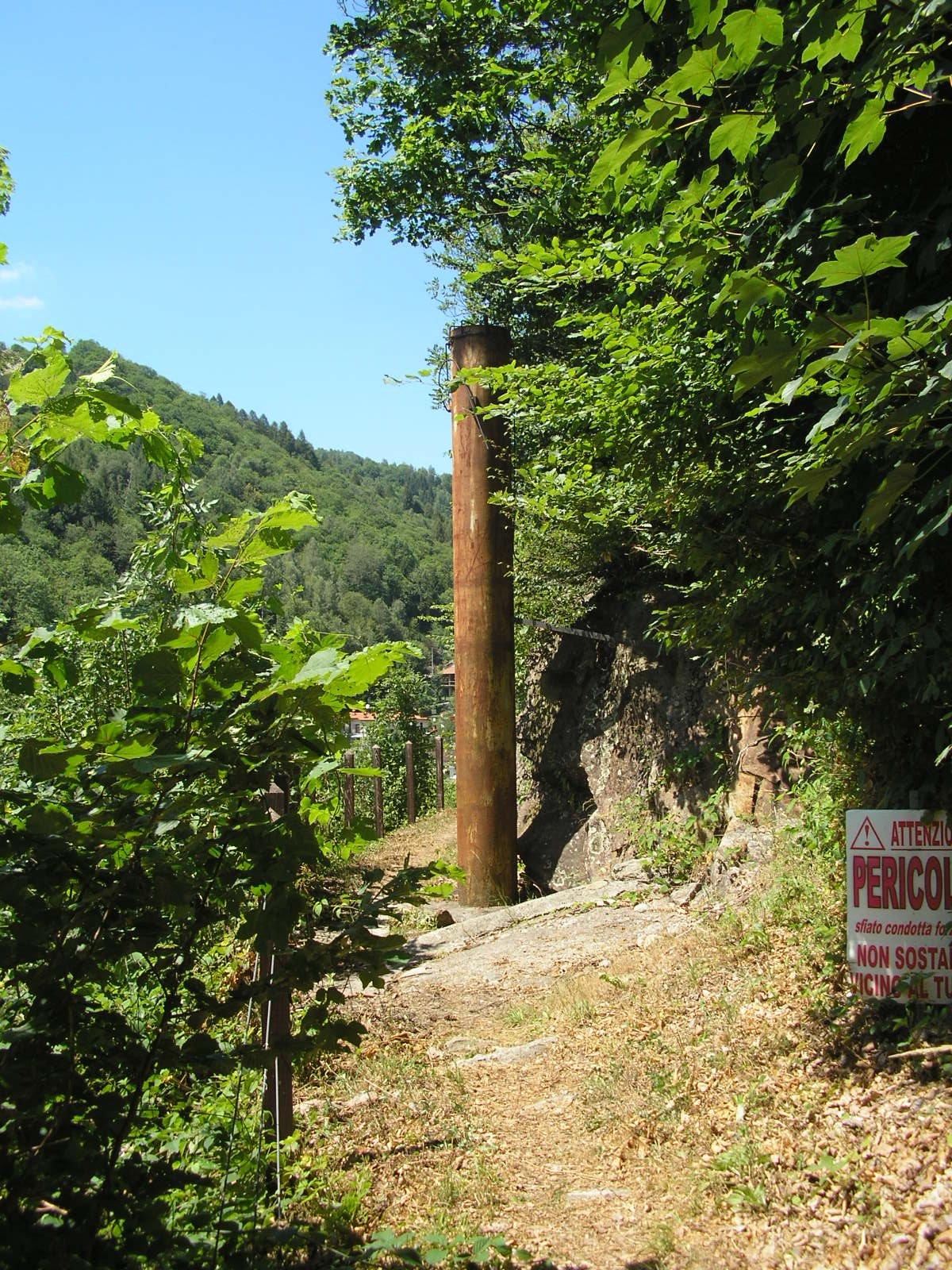 Il tubo di sfiato dell'acquedotto