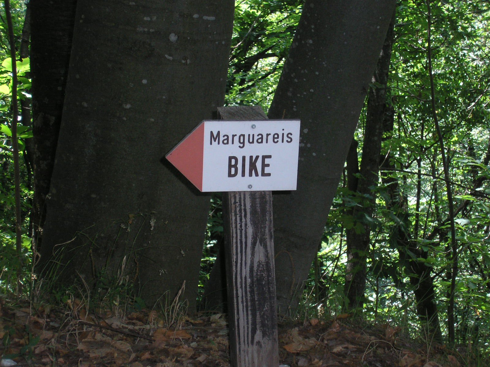 I cartelli indicatori presenti su tutto il percorso