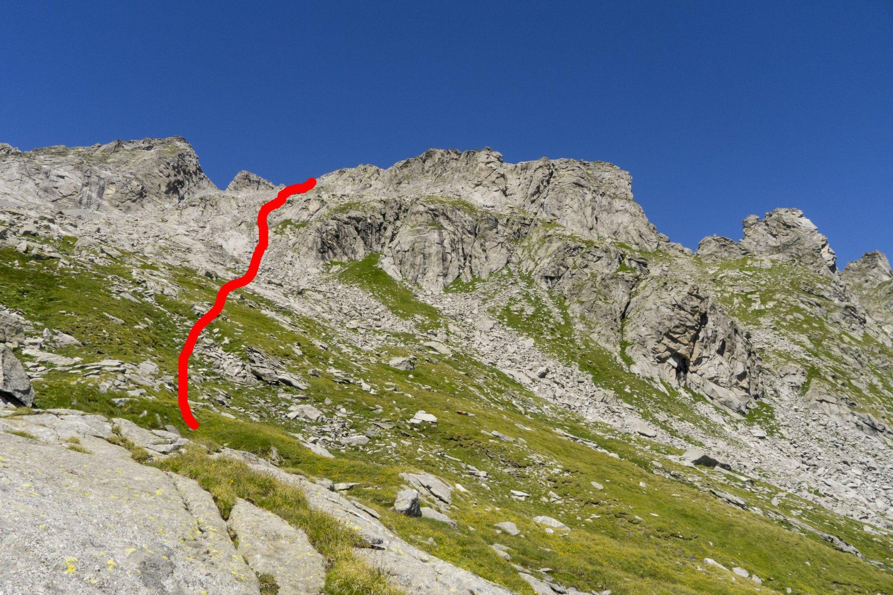 percorso altenarnativo dal sentiero Roma (provenendo dal rifugio Omio)