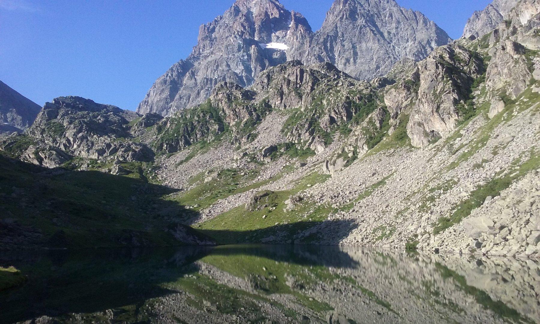 Il Monviso e il lago Fiorenza