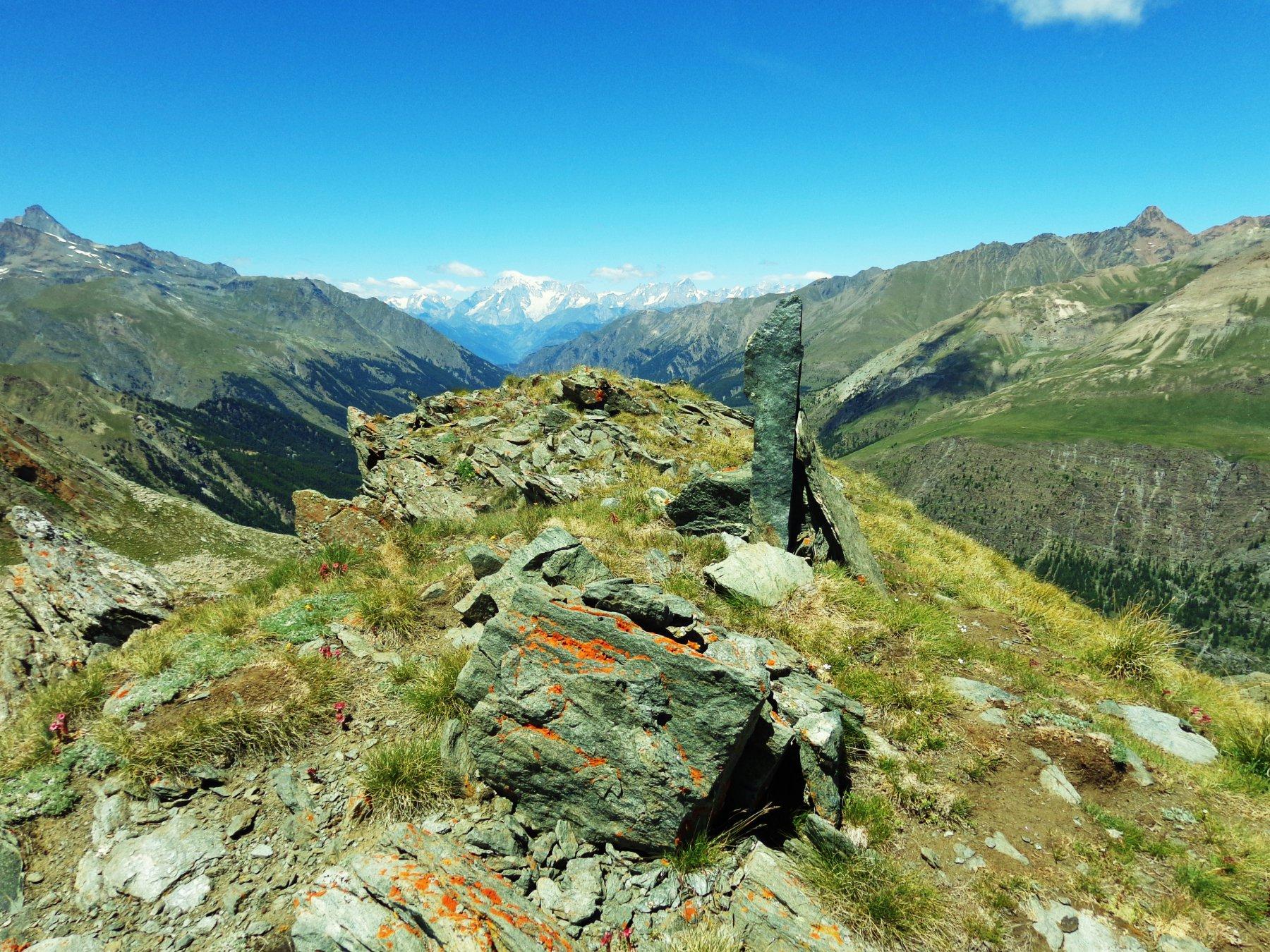 Ometto di vetta e Monte Bianco
