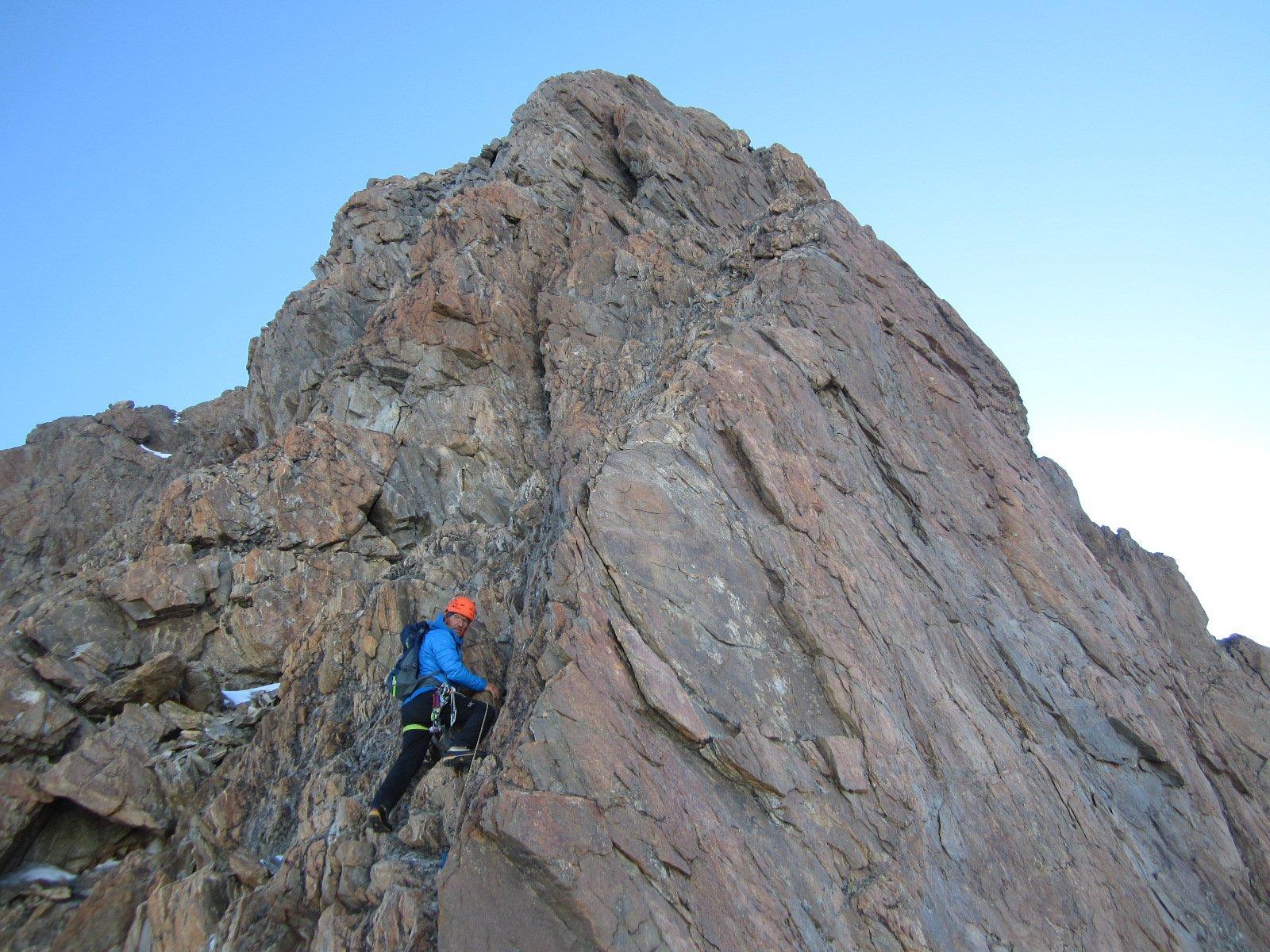 …la bella cresta…ottima roccia...