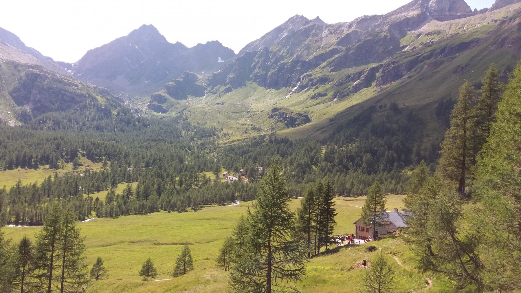 Arrivo all'alpe Veglia