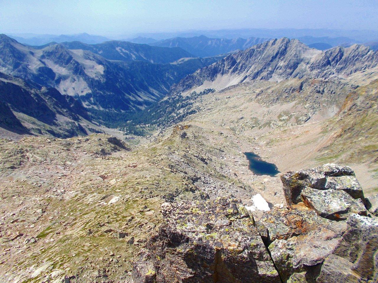 dalla cima  il Lac Bessans