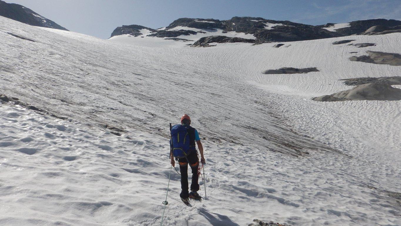 Franco sul ghiacciaio