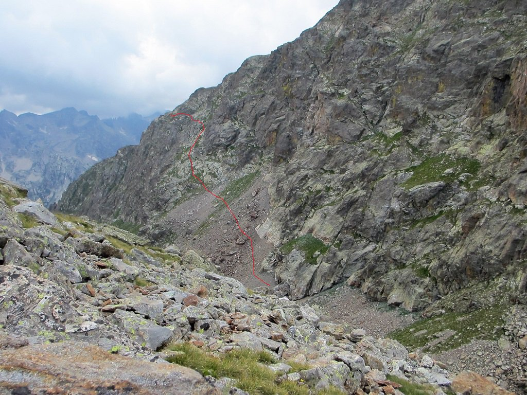 A salire dal colle Cabrera sulla via del colle Valmiana