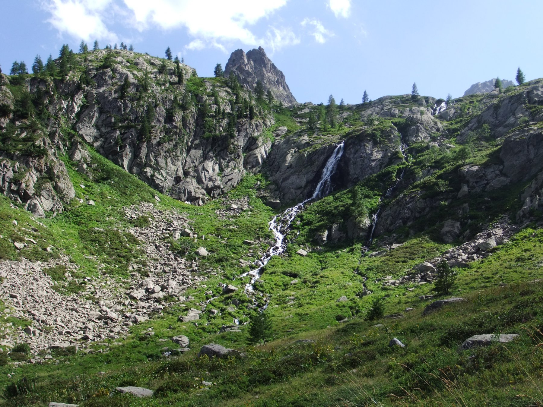 Cascata nel vallone di San Bernolfo