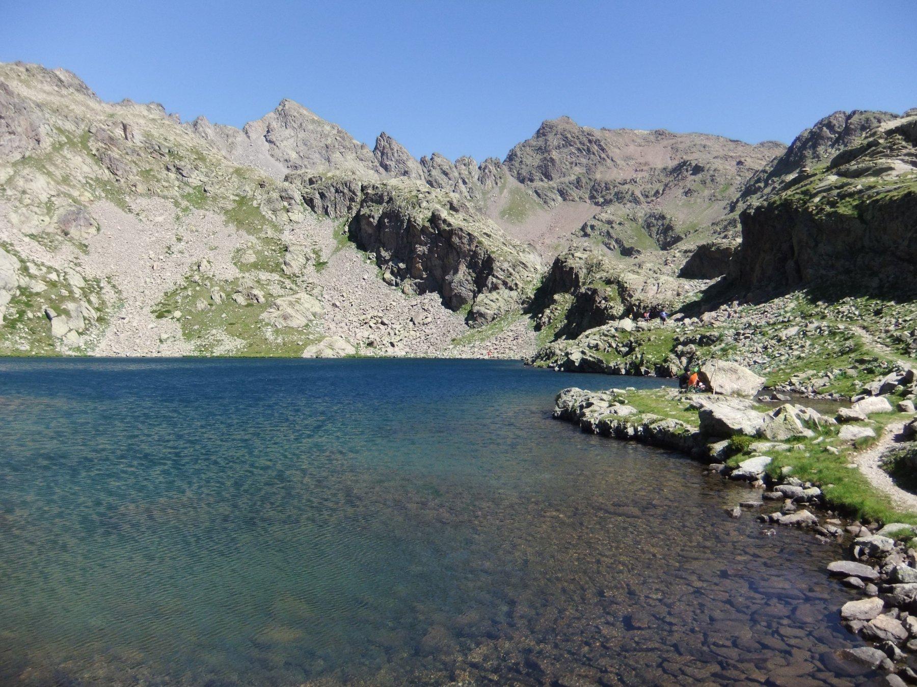 Lago Inferiore del Lausfer con Corborant e Punta Gioffredo