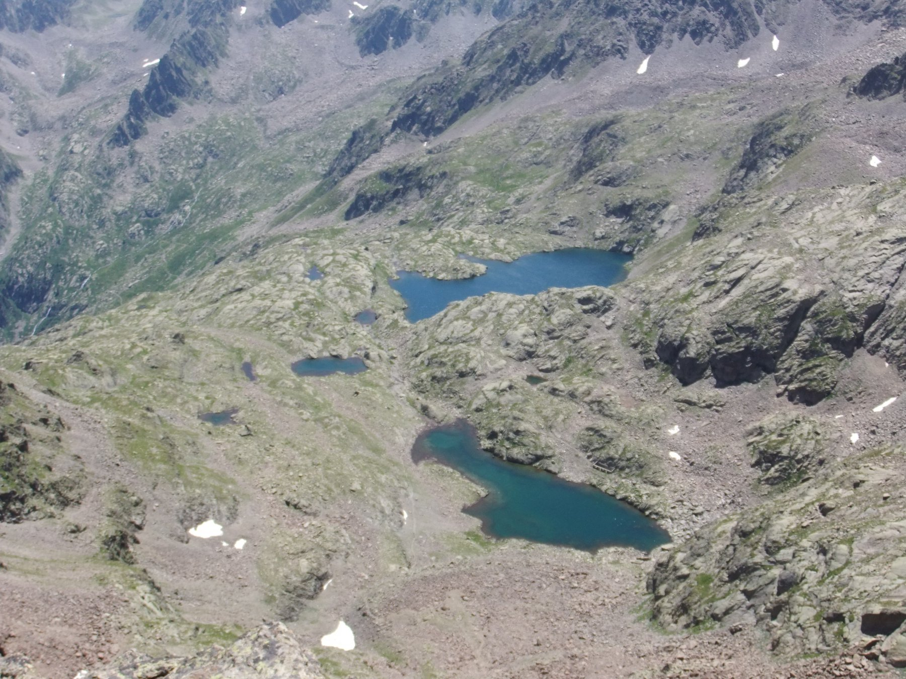 Laghi e laghetti del Lausfer dalla punta