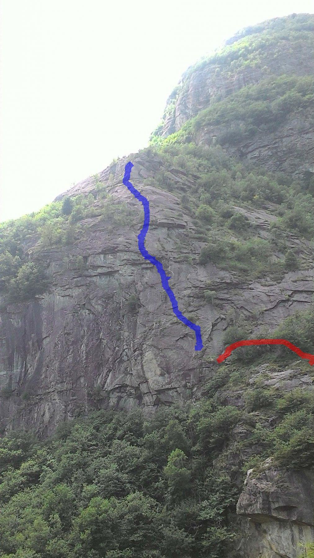 In blu la via e rosso l arrivo dell attacco,circa